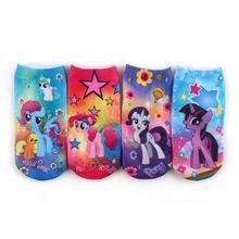 4pair/lot my little soks for girls pony cartoon baby alibaba china free 3d model animations calzino meia calzas calcetines nino