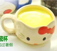 Product packaging handle KT cat jelly pudding Cheese Cake children pastry ceramic cup(China (Mainland))