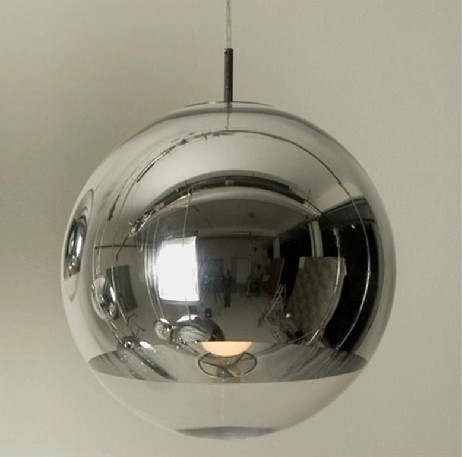 NEW Modern Tom Dixon Copper Shade Mirror Glass Ball Vacuum LED Pendant Light Lustre Ceiling Lamp Christmas Lighting fixture 50%(China (Mainland))