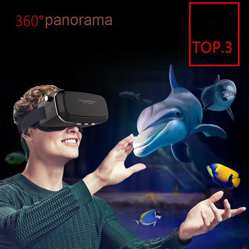 Shinecon VR Virtual Reality 3D Glasses,Head Mount VR BOX 2.0 for Original Xiaomi Redmi Note 3 Pro for Original Huawei Mate 8