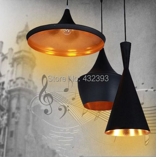 Modern Tom Dixon Beat Abc Pendant Light Musical Instrument Pendant Lamp For Kitchen Black/White Fixture Lighting Luminiare(China (Mainland))