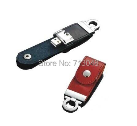 100% Pass H2testw Real capacity 64GB 32GB 16GB 8GB Capacity Genuine Leather Pen drive USB flash drive memory stick(China (Mainland))