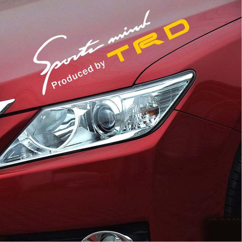 3 color TRD Toyota Racing Development Sports Car Sticker Auto Decal Eyelids Sticker for Toyota Camry Reiz RAV 4 Corolla Hilux(China (Mainland))