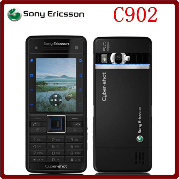 Original Unlocked Sony Ericsson C902 3G 5MP Bluetooh MP3 MP4 Player Refurbished Cell phone one year warranty(China (Mainland))