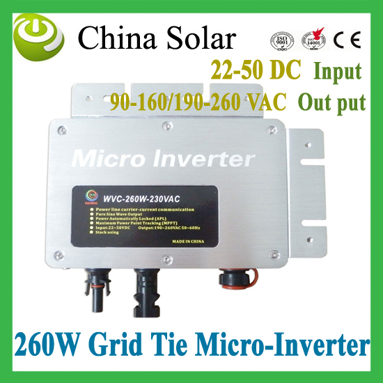 Free Shipping by Fedex 2015 New Hot Product - 260 Watt Grid Tie Solar Micro Inverter(China (Mainland))