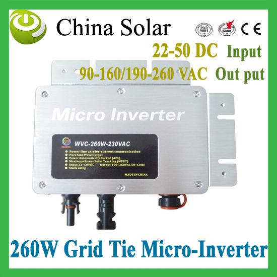 Free Shipping by Fedex 2015 New Hot Product - 260 Watt Grid Tie Solar Micro Inverter(China (Mainland))