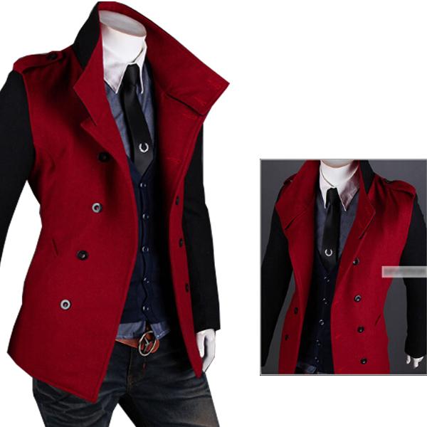 Outono inverno Trench Coat Men The Double Breasted casaco de moda de lazer mangas e cor do corpo é diferente Mens sobretudo