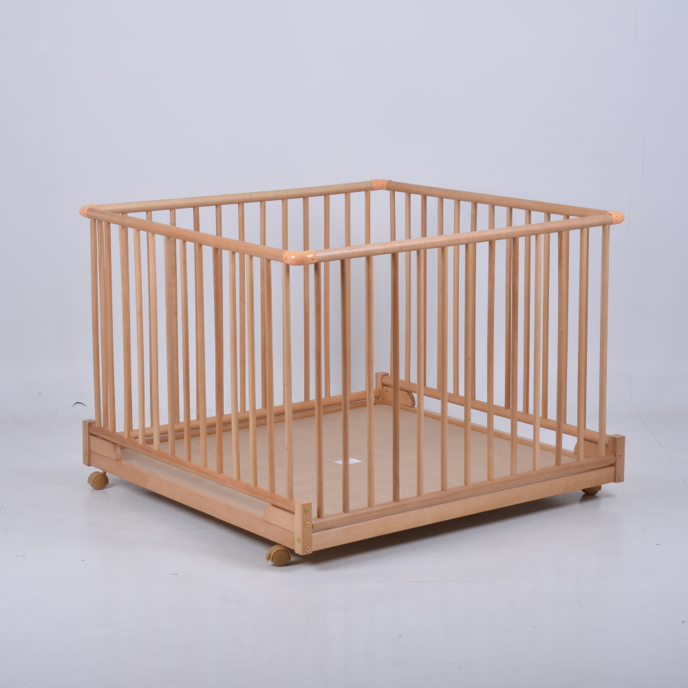 Baby bed gates - Fashion Solid Wood Baby Multifunctional Game Fence Bed Height Adjustable Folding Game Fence Bed