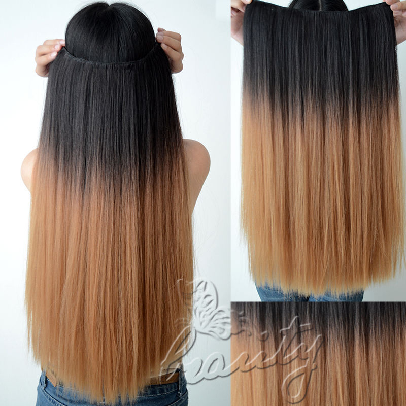 Ombre Dip Dyed Hair Clip In Hair Extensions Prices Of Remy Hair