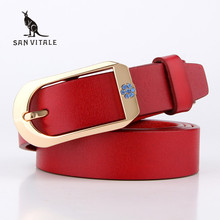Buy 2016 new designer brand Women's strap fashion casual all-match Womens cowskin leather belt women students pure color belts for $10.06 in AliExpress store