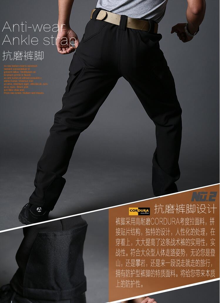 Green black Grey Warm waterproof Multi-pocket pants mens military trousers men soft shell overalls male 1 british style