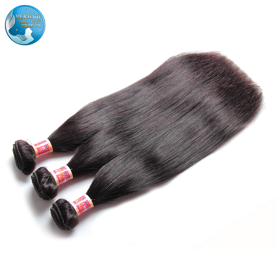 malaysian virgin hair straight nature black #1b grade 6A unprocessed virgin malaysian hair extension thick from weft to end<br><br>Aliexpress