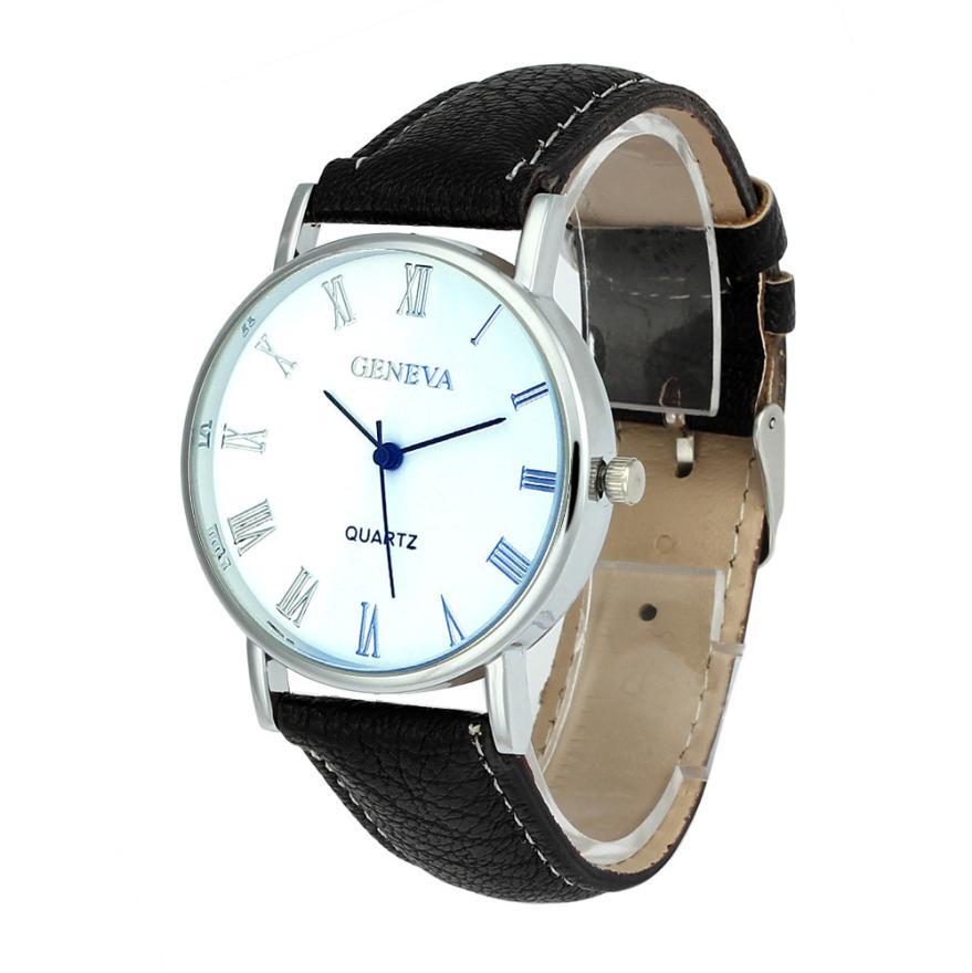 Attractive White Dial Fashion High quality Men Women Blue Ray Glass Quartz Analog Wrist Watch Watches OT19(China (Mainland))