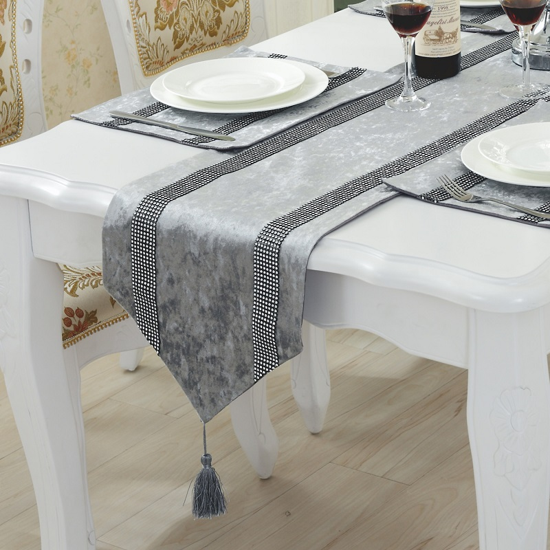 Table Runner 100% Polyester table runners For Home,Wedding,Hotel,Brand Tafelloper Black,White,Blue,Beige,Purple Colorful Solid(China (Mainland))