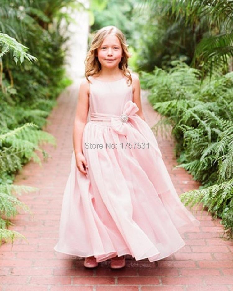 fashion blush pink flower girl dress princess vestido light pink flower girl dresses for junior. Black Bedroom Furniture Sets. Home Design Ideas