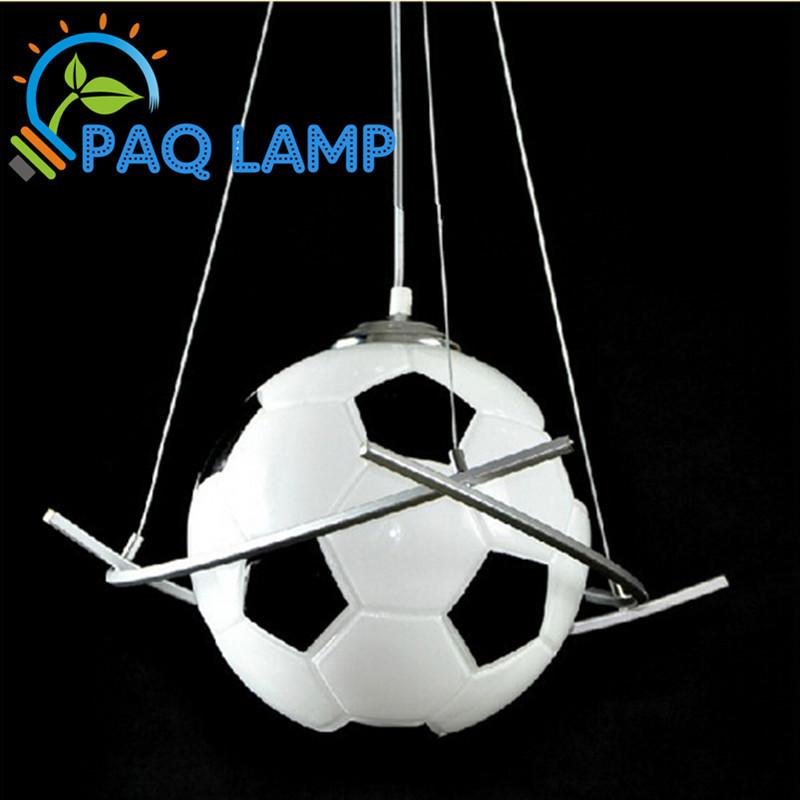 Football lampe lustre lumiu00e8re u00e9clairage de la piu00e8ce de kid garu00e7ons ...