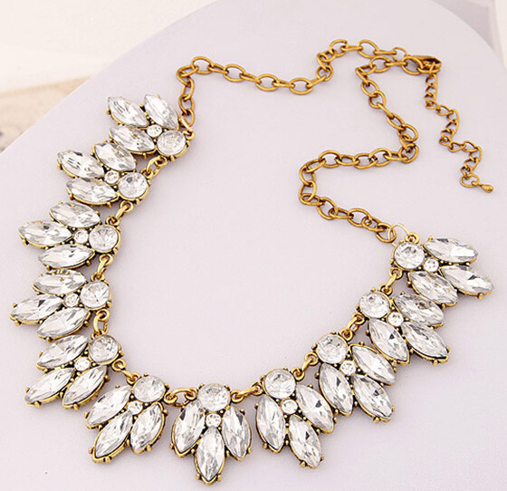 Star Jewelry Sale 2015 New Arrival Vintage Jewelry Crystal Flower Chokers Necklace Necklaces Pendants Woman Gift