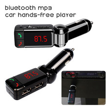 Car Bluetooth FM Transmitter Kit Wareless MP3 Player Modulator Handsfree LCD with Dual USB Charger for iPhone Samsung Smartphone(China (Mainland))