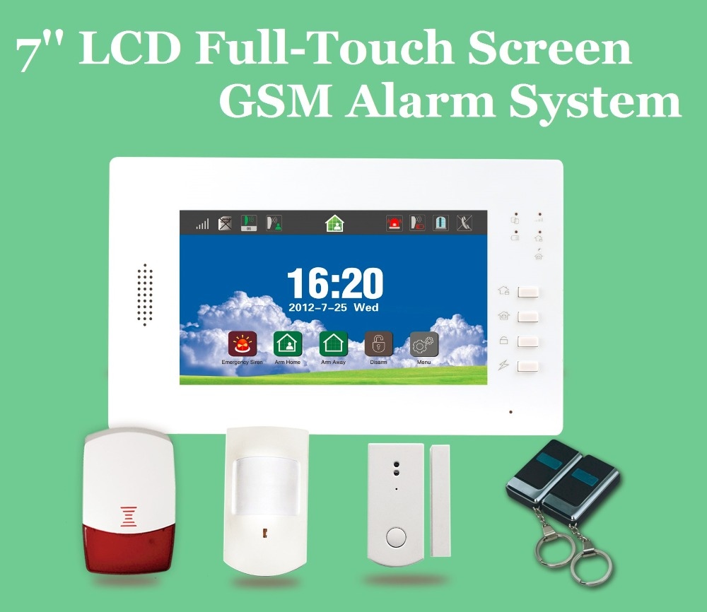 Hot Selling 7 Inch Large Touch Screen 868MHz Wireless GSM Alarm System Security Home Alarma Casa, Android/IOS APP Control<br><br>Aliexpress