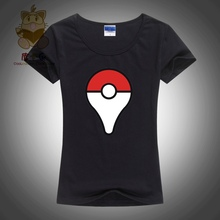 hot anime / mobile game Pokemon GO location logo tee shirt for girl. game lover's tee shirt ac127-g