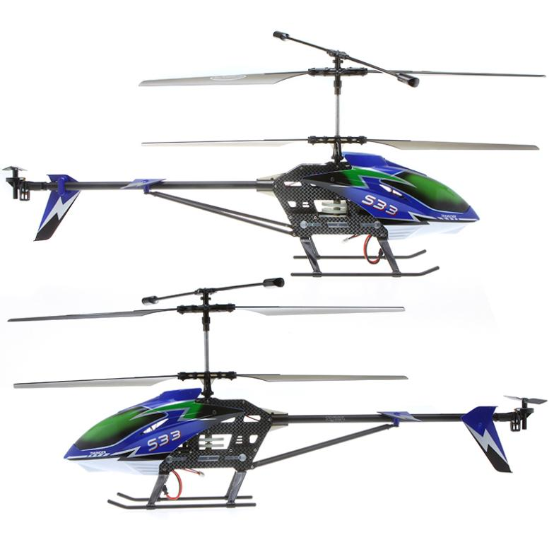 IMONIC 2.4GHz 3.5CH Syma S33 Large Size Remote Control Metal RC Helicopter Gyro Blue UK(China (Mainland))