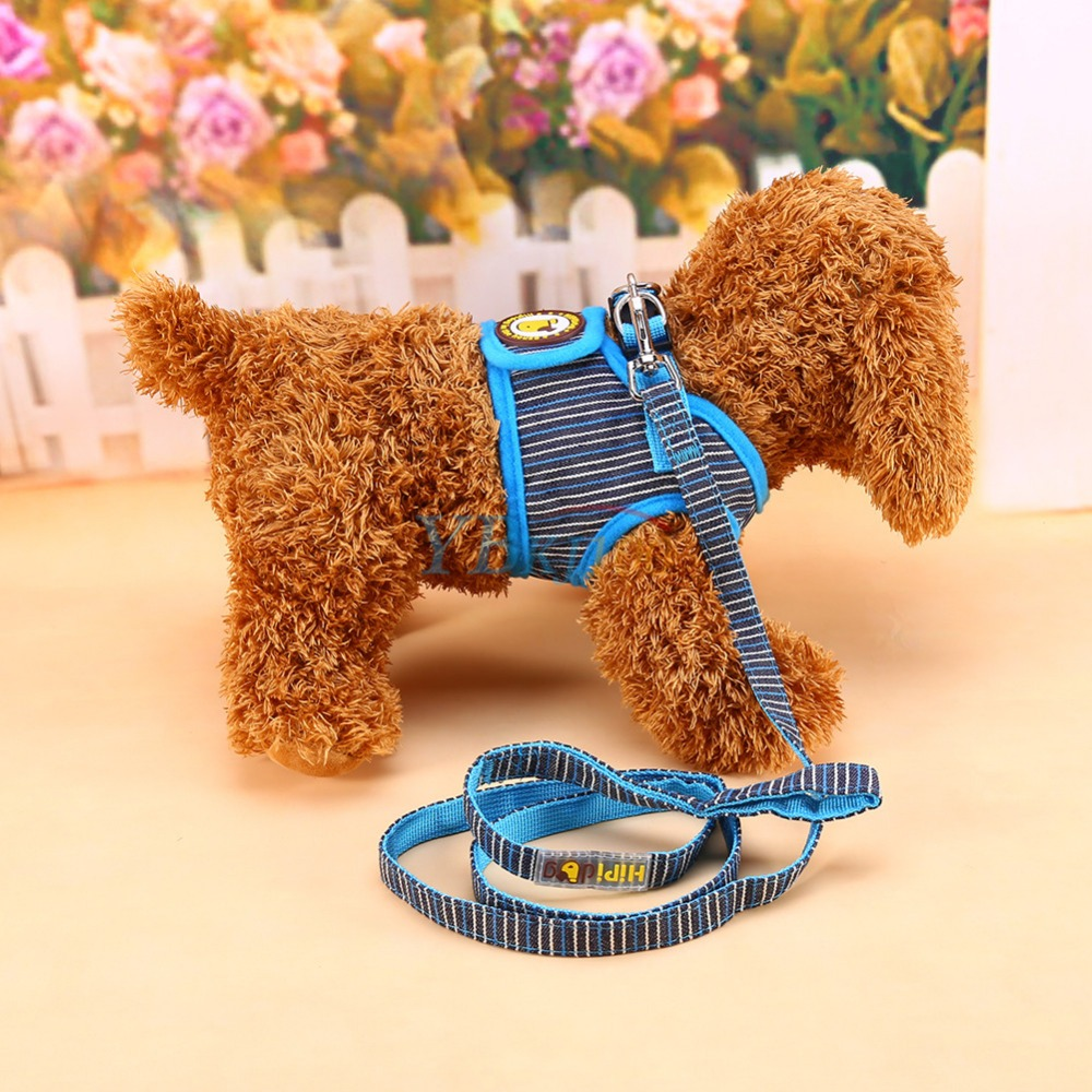 New Style 3 Colors Pet Dog Harness Cat Collar Clothes 3 Colors Dog Vest Harness Leash Dog Apparel Animal Supplies(Hong Kong)