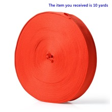 New Red 10 Yards Roll Nylon 1 inch Wide Strap Webbing Belt Camping Strapping for Industrial Packaging Parachuting Animal Lead(China (Mainland))