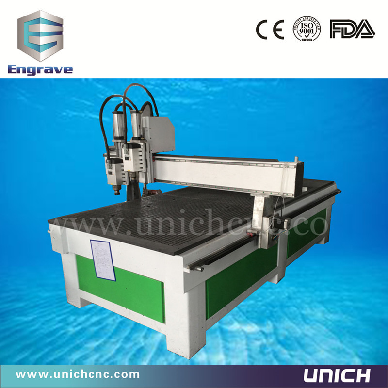 Plywood Cutting Machine ~ New designed multi spindle cnc double head