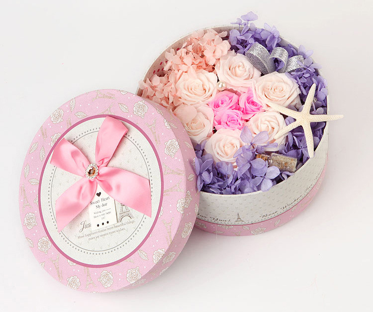 Preserved Fresh Flower Roses In Gift Box Valentine for Girls Wife High quality 9 Roses Love Decoration Preserved Roses(China (Mainland))