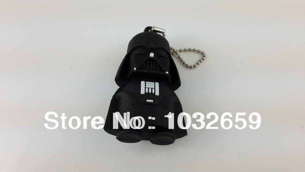 Hot sale, Star War Dark Darth Vader Pvc / Rubber Usb Flash Drive 1GB 2GB 4GB 8GB 16GB / Usb Memory Stick / pen drive(China (Mainland))