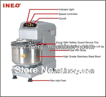 20L spiral dough mixer ( timer controlling), Electric Stainless steel dough mixer machine for sale