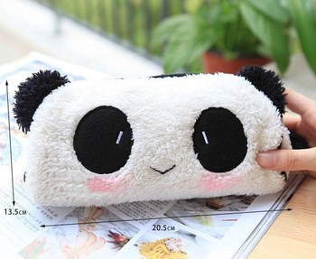 3PCS/LOT Super Kawaii Panda Plush Pen Pencil BAG Pouch Case , Coin Purses & Wallet BAG , Cosmetics Beauty BAG Case Pouch Holder
