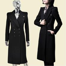 winter new military uniform double-breasted maxi winter coats woolen long trench coat(China (Mainland))