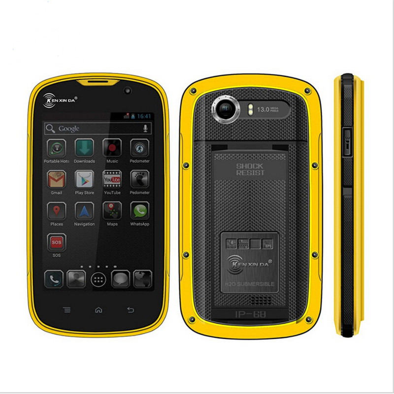 "Kenxinda PROOFINGS W5 IP68 Waterproof Dustproof Shockproof Mobile Phone 4"" Android 5.1 MTK6735 Quad Core 1GB+8G 4G LTE Phone(China (Mainland))"