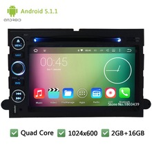 Quad core Android 5.1.1 1024*600 Car DVD Player Radio Audio Stereo Screen For Ford Mustang Escape Taurus Freestyle Mercury U324