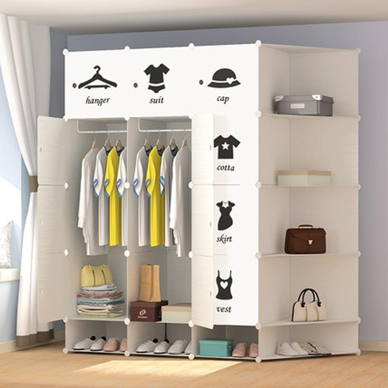 Simple wardrobe Economy Modern minimalist furniture Locker Bedroom combination Single plastic IKEA European small wardrobe(China (Mainland))