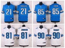 100% Stitiched,Detroit Lion #90 Gabe Wright #85 Eric Ebron #81 Calvin Johnson #21 Ameer Abdullah Golden Tate III(China (Mainland))