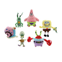 Cute Spongebob plush ,Patrick star,Squidward,Tentacles,Mr. Krab,Sheldon Plankton Gary Toys Kids Gift