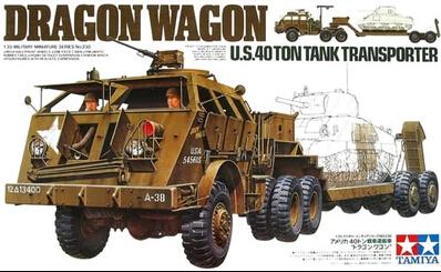 TAMIYA MODEL 35230 U.S. 40 ton tank transporter dragon wagon(China (Mainland))