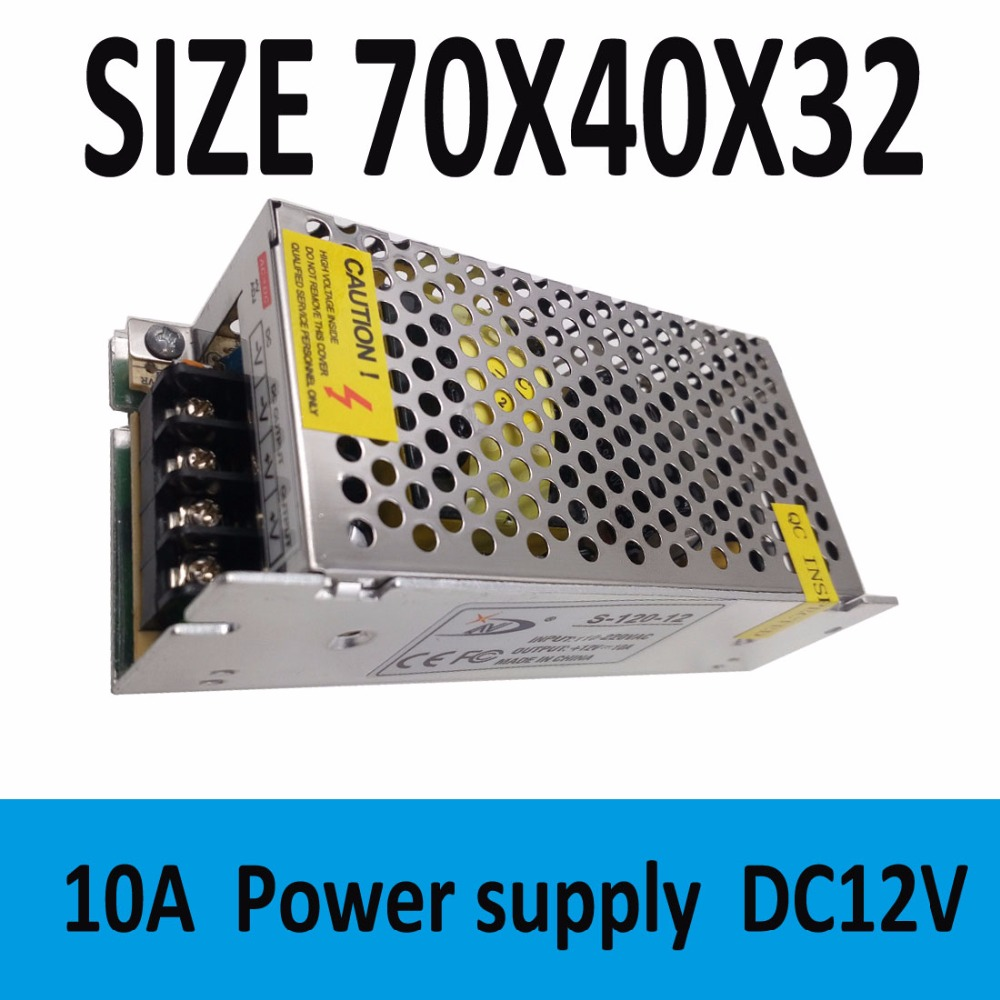 High Quality 12V 10A 120W Switch Power Supply Switching Driver Adapter For Transformer LED Strip Light Display 110V/220V(China (Mainland))