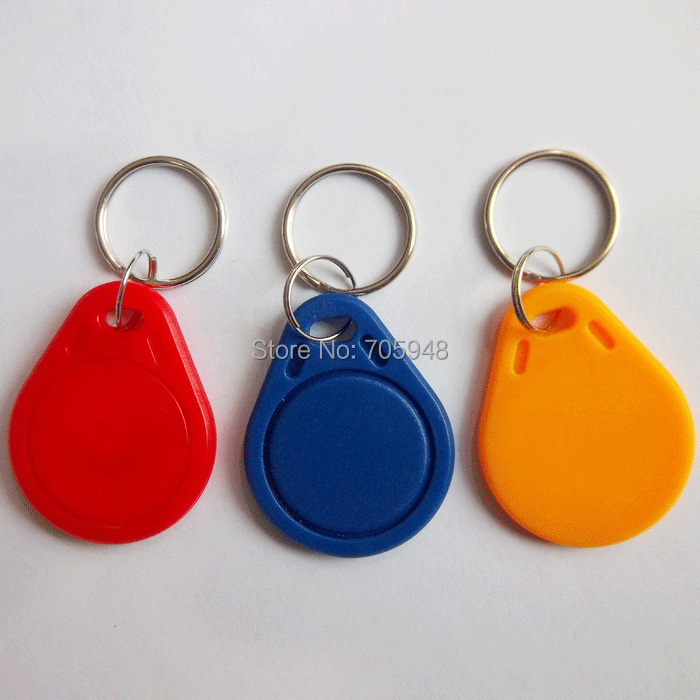 FREE SHIPPING 5pcs UID IC card Changeable Writable keyfobs key tags one IC 13.56Mhz blue keyfobs Block 0 sector writable(China (Mainland))