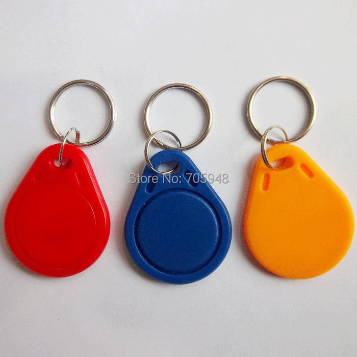 5pcs UID IC card Changeable Writable keyfobs key tags one M1 IC 13 56Mhz blue keyfobs