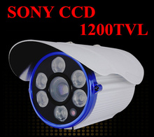 NEW SONY CCD Outdoor Waterproof CCTV Camera 1200TVL High Definition IR distance of 100 meters free shipping (China (Mainland))