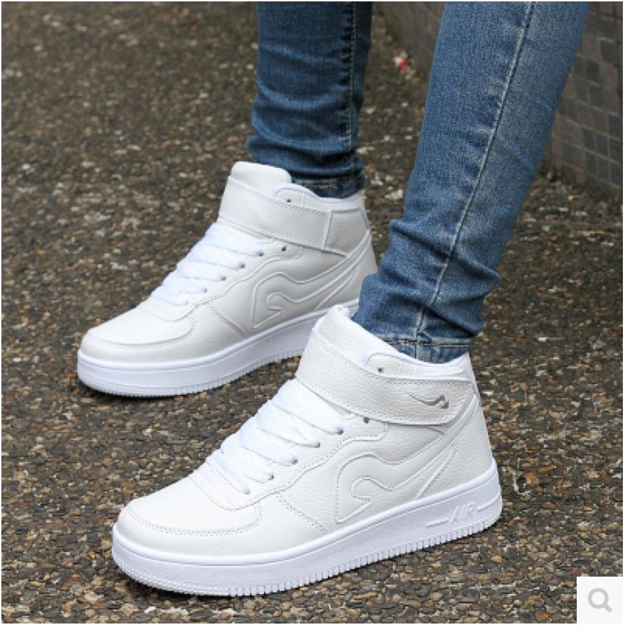 zapatillas deportivas newest classic all white casual
