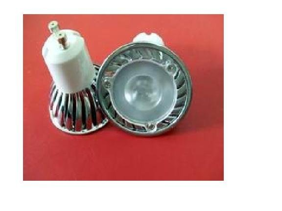 GU10 1*3W led spot light with 85 to 265V AC Input;120lm,large stock;please advise the color you need;P/N:HS-GU10-1*3W-FX
