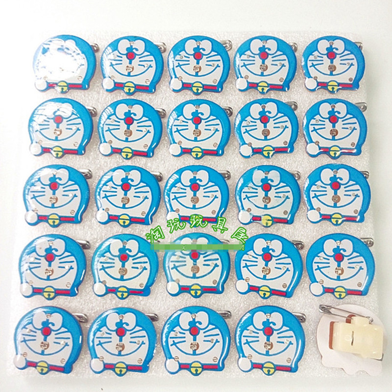 Wholesale 500pcs/lot New Glowing Doraemon Brooches Toy Blue Cartoon Led Light Badge For Kids Festival Gift Toy Doraemon Pins<br><br>Aliexpress