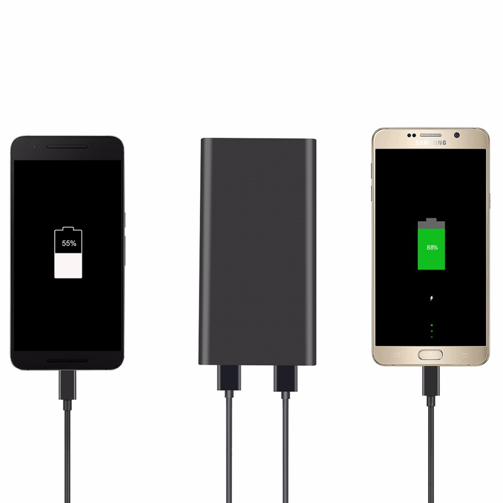 A1 Double USB Power Bank 15000mAh External Battery for iPhone 6 Samsung S7 Portable Universal Quick Charger 3.0 Power Bank 2A