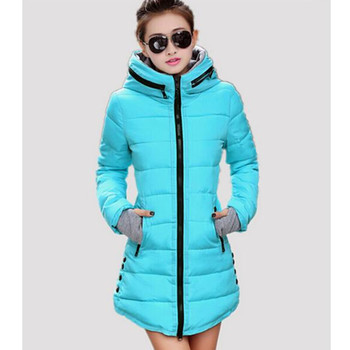 Women's cotton-padded jacket 2015 winter medium-long down cotton plus size jacket female slim ladies jackets and coats