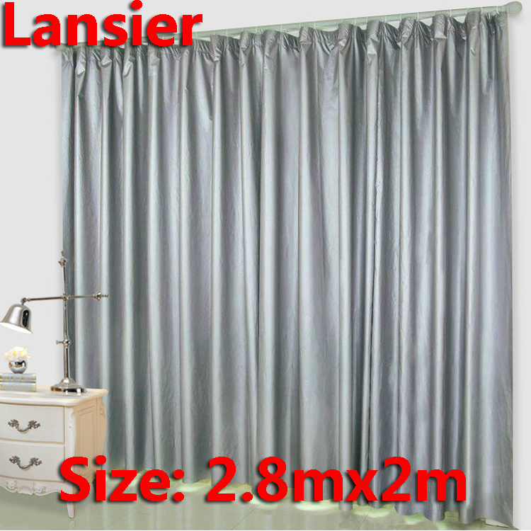 Blackout Curtain 2 8mx2m Sliver Finished Product Home Textile Blackout Curtain Fabric Sun