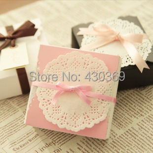 100pcs Pink Colorful Paper Bag Box Paper Hand Length Handle Bag Food Chocolate Cake Gift Soap Paper Box Bag Paperboard 9*9*3.5cm(China (Mainland))